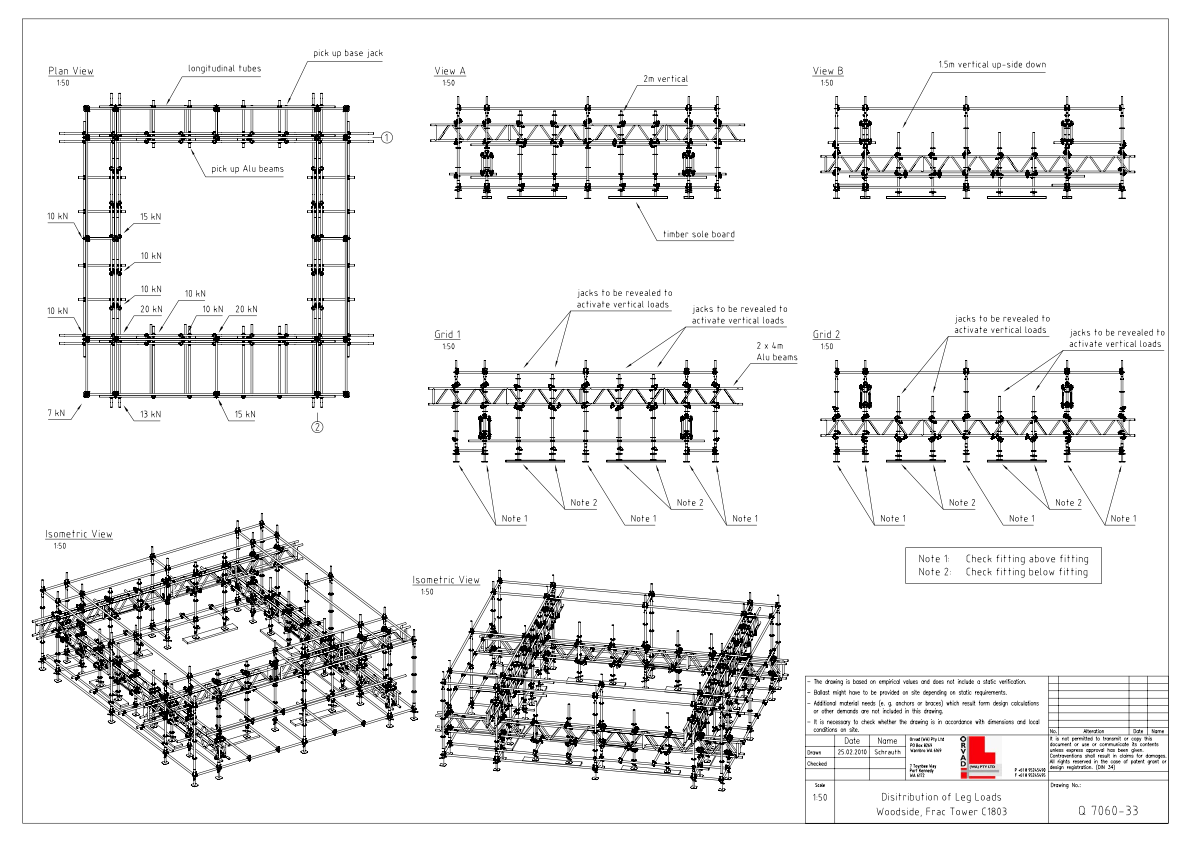 Frac Tower Drawing